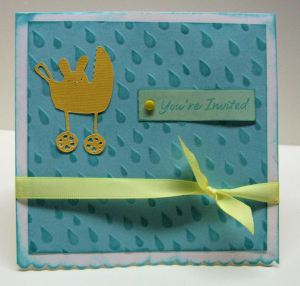 Embossed with Big Shot and Fiskars Texture plate