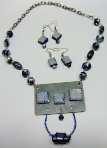 Another Formica and plymer clay necklace