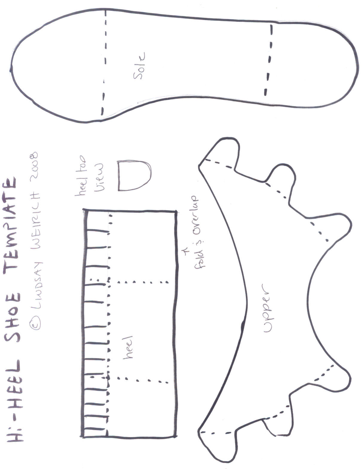 Hi heel shoe temp the frugal crafter blog for High heel shoe template craft