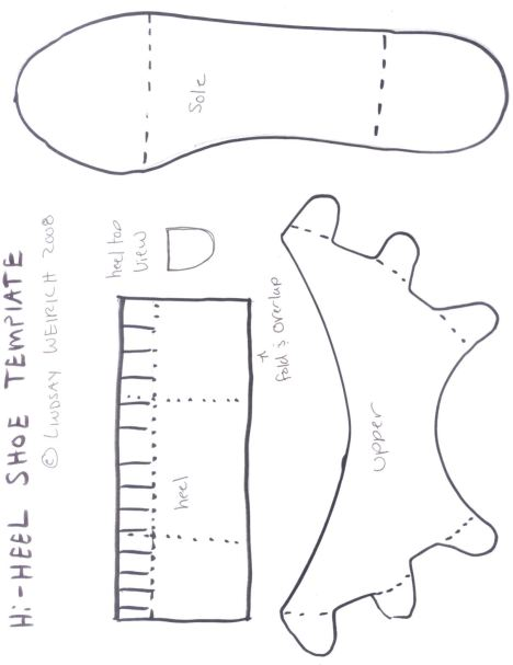 The template for the paper shoes