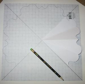 Draw an x on paper, line up template & trace