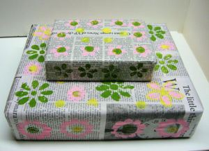 Recycled Wrapping Paper!