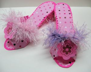 Groovy paper shoes