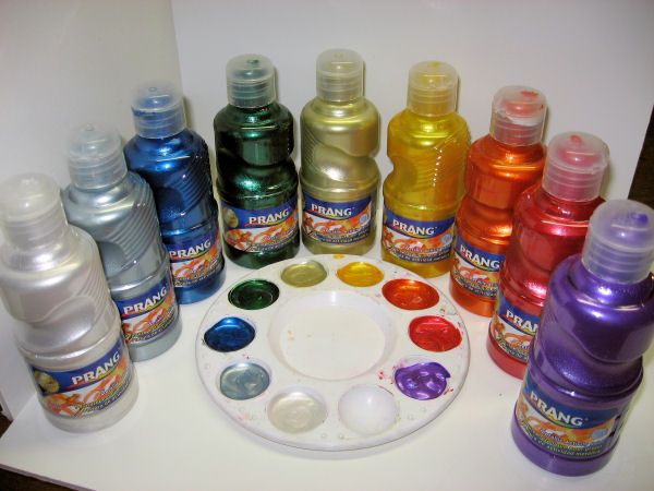 make your own metallic watercolors the frugal crafter blog
