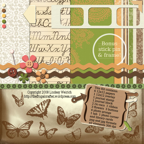 Free Digital Scrapbook Kit The Frugal Crafter Blog