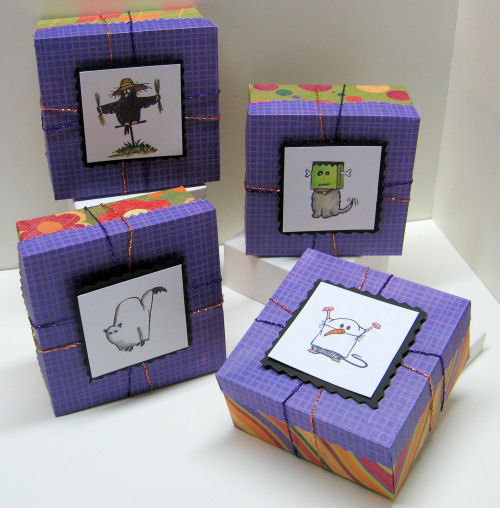 Easy stamped treat boxes!