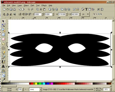 open the file in Inkscape, select the mask.