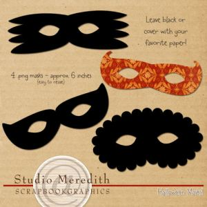 Halloween mask freebie by Merdith Fenwick