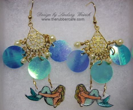Mermaid Earrings copyright Lindsay Weirich 2008