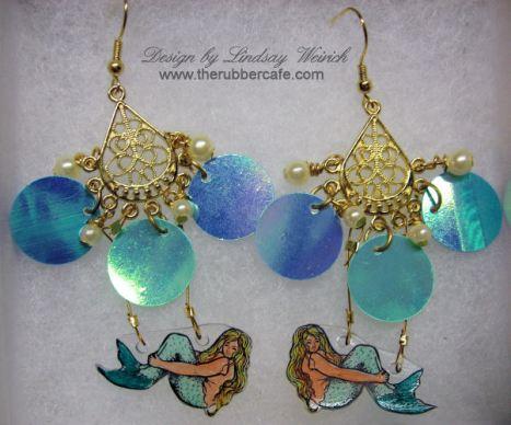 Mermaid Earrings copyright Lindsay Weirich 2008
