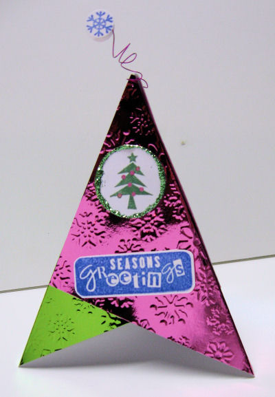 Christmas tree tee-pee card!