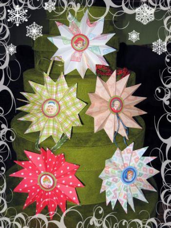 3-D star orniments by Lindsay Weirich 2008