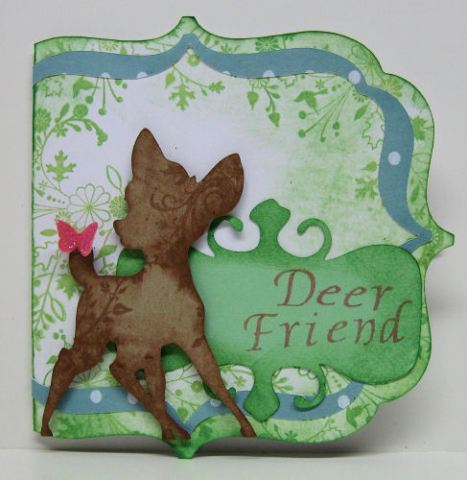 """Deer"" Friend card by Lindsay Weirich 2008"