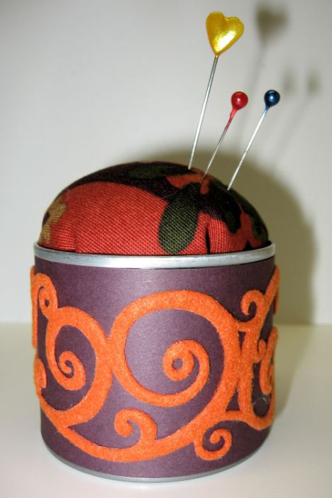 pincushion with Queen and Co. Felt