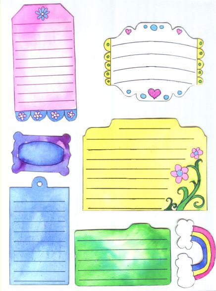 watercolor tag printables by Lindsay Weirich