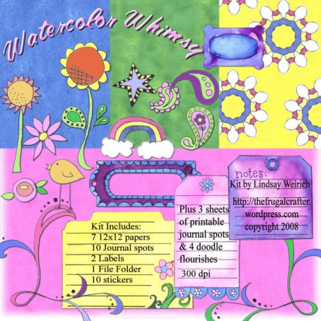 Watercolor Whimsy Kit copyright Lindsay Weirich 2008