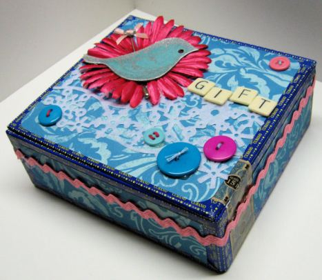 An altered cigar box by Lindsay Weirich