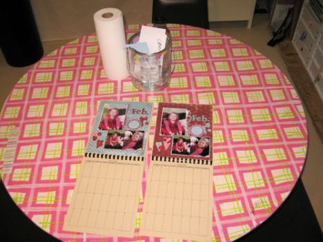 my happy plaid table! It was a grungy brown table given to me that I painted.