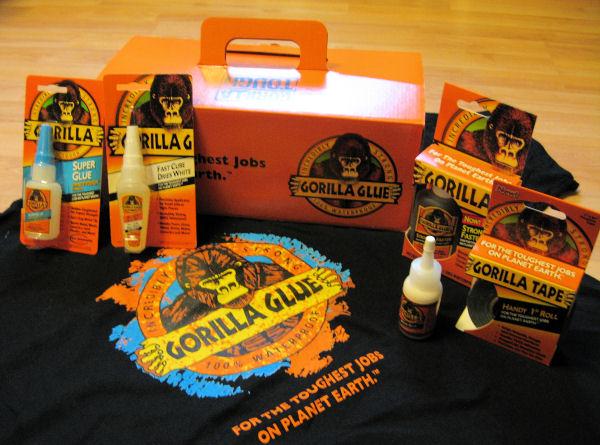 Samples from the Gorilla Glue company, Score!