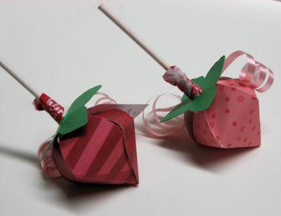 Lollipop holders close up