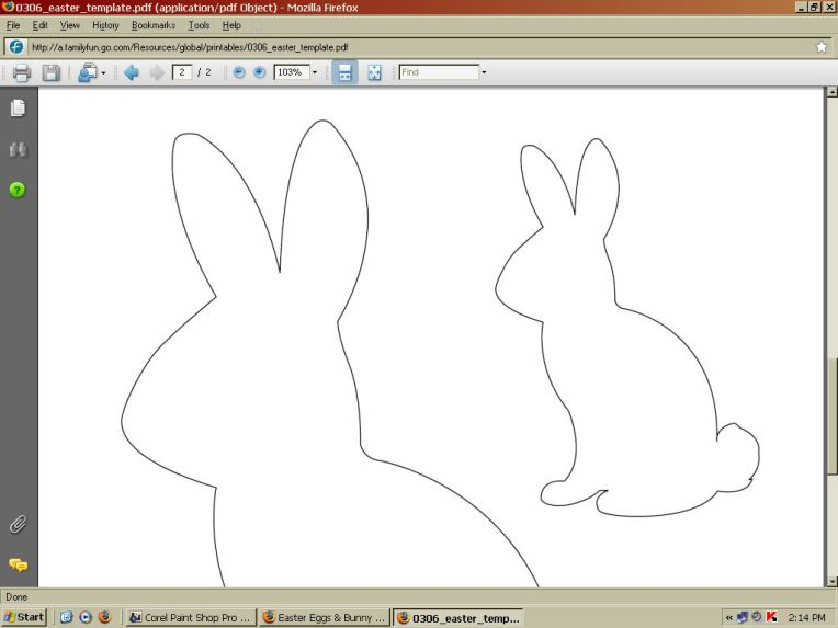 """zoom in on the little bunny and press the """"print screen"""" key (top row on the computer keyboard.)"""