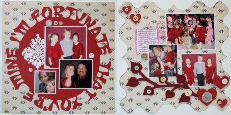 Layout by Lindsay Weirich, Stamps: Magenta, Inkadinkado, Autumn Leaves, Paper: Autumn Leaves, Die Cut Felt: Accucut, Sofware Sure cut a Lot with the Cricut