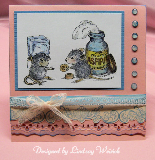 Stamps: House Mouse, The Rubber Cafe, Design By Lindsay Weirich