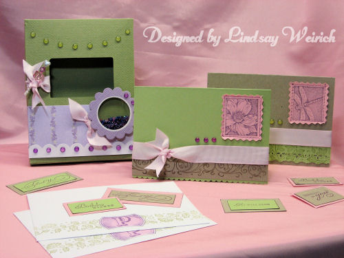 I used my Stampin up stuff to make this pretty set for mom!