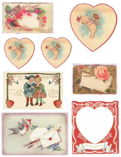 Free vintage valentines for you, Happy Valentines!
