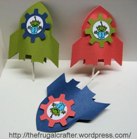 Rocket lollipop holders by Lindsay Weirich