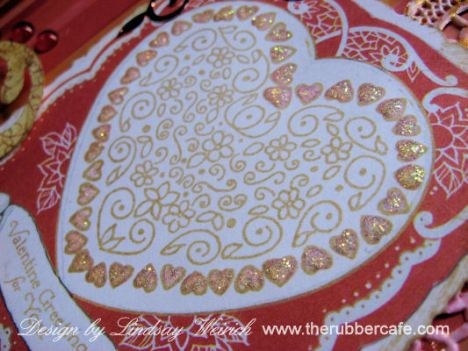 Glitter glue accents the stamped heart.