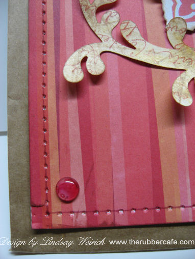 Faux Stitiching adds detail to the project