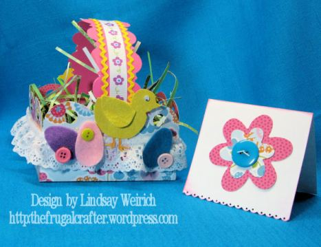 Paper: MAMBI, Eggs: Accucut, Flowers: Sizzix, Chick and Basket my Design (download below)