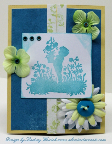 Stamp: AAA, Cardstock: SU, PP: MME, Flowers: Dollar Tree