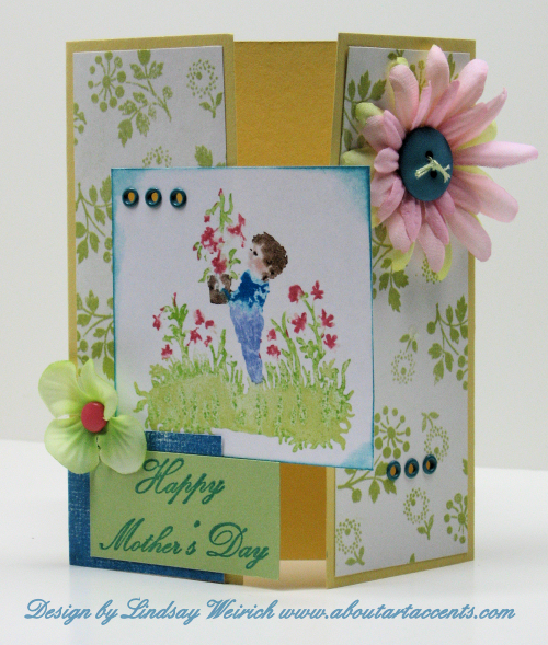 Atamp: About Art Accents, Cardstock: Stampin up, PP: My Minds Eye