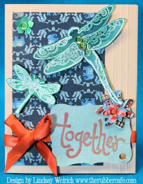 The scor-Pal is used to emboss the delicate lines on the edge of this card.