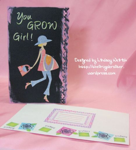 Die Cuts, Stamps: PRovocraft, Punch: Fiskars, Paper: Basic Grey (Oh Baby! Girl)