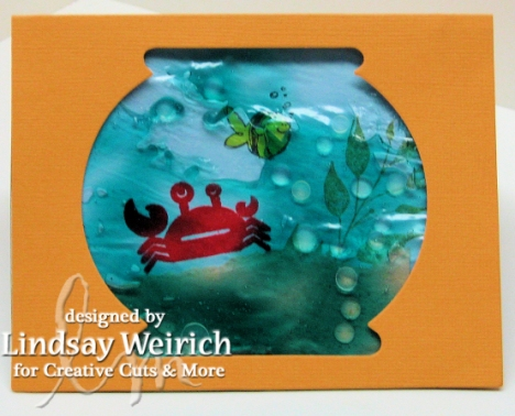 Die Cut Card: Accucut/creativecutsandmore.com