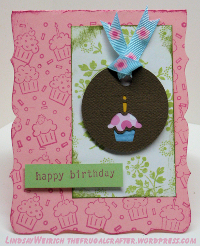 stamps: Stampin Up!, Paper: MME, cupcake tag: Cricut