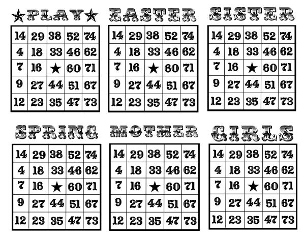 Clean image regarding free printable bingo cards with numbers