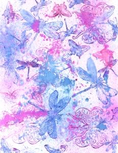 Watercolor stamped paper freebie!