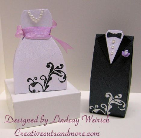 Dress and tux box: creativecutsandmore.com, stamp: Autumn Leaves