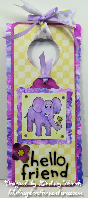 Digi Stamp: Lindsay Stamp Stuff, Yellow Pattern Paper: Provo Craft, Marbalized paper: see below, Die cut alpha: Sizzix, Other: craft foam, ribbon, silk flower, brad