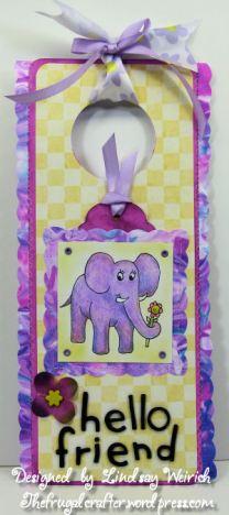 Digi Stamp: Lindsay Stamp Stuff, Yellow Pattern Paper: Provo Craft, Marbalized paper: see below, Die cut alpha: Sizzix, Other: craft foam, ribbon, silk flower, brad