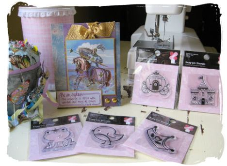 5 lovely stamps and a beautiful card from Stephanie, Thanks!