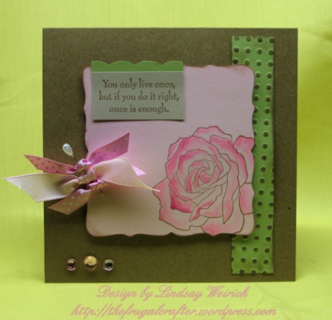 Stamps: Stampin Up, Paper: SU!, The Paper Co, Ribbon: Dollar Tree