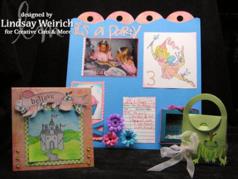 Stamps: Lindsay's Stamp Stuff, Pattern Paper: Basic Grey, Cardstock: DCWV, Bag: Creative Cuts & More