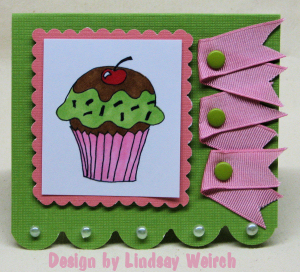 The cupcake is a digi-stamp designed by me!