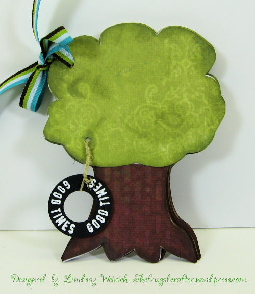 """""""chipboard"""" tree minibook to cut with scal/cricut, download links below."""