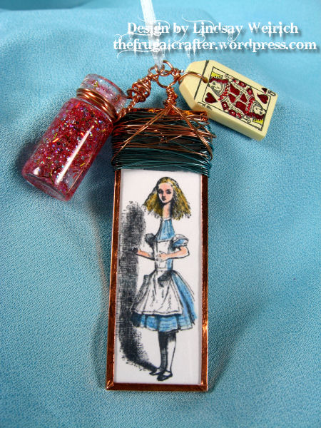 I place the tall alice between two mircoscope slides and taped it closed with stained glass tape.